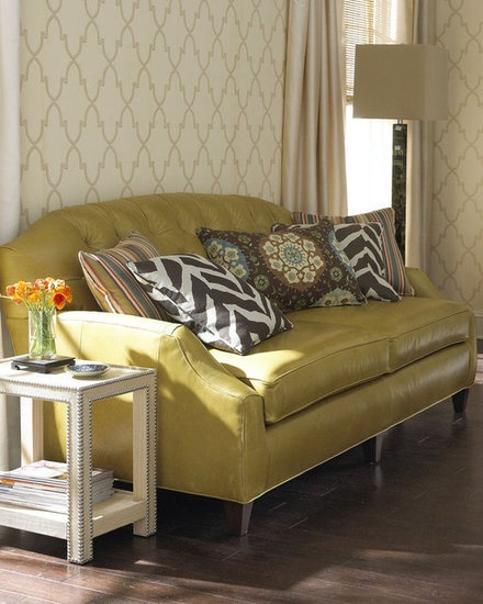 Decorating Tips and Inspiration From All the 2013 Oscar-Nominated Films: This massoud Ophelia sofa ($5,119) is a fun take on Pat's parents' dark green couch.