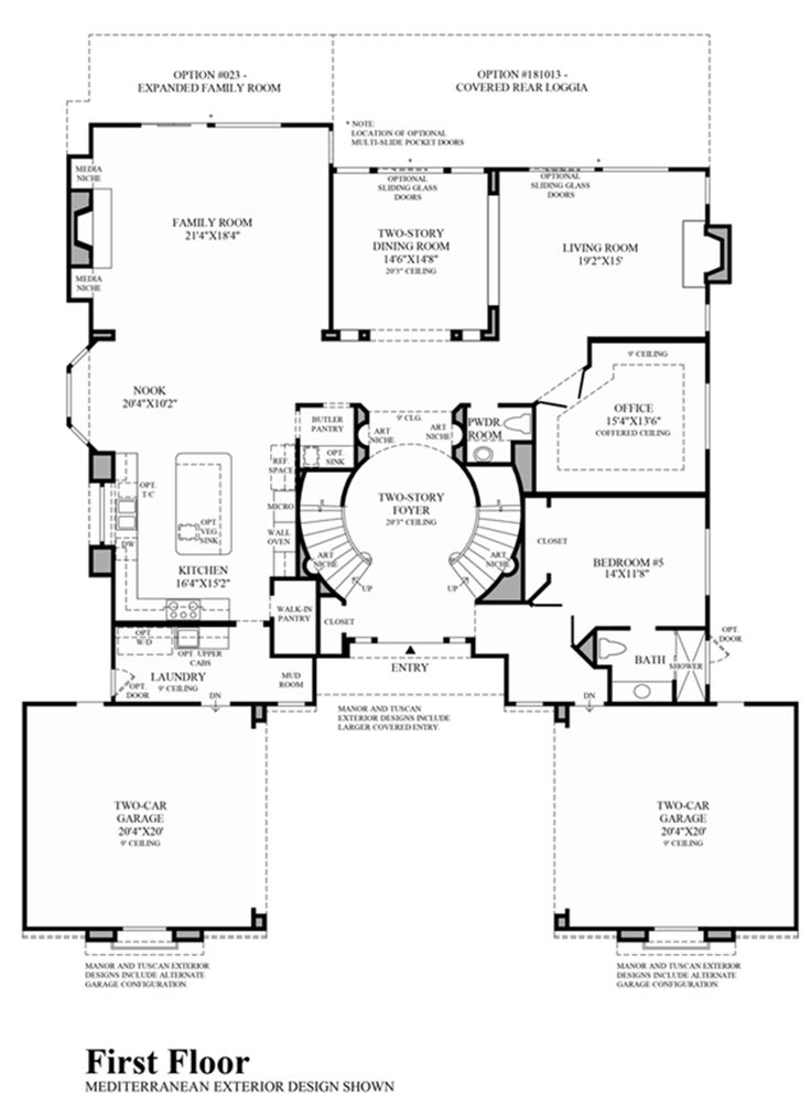 Kerrigan Ranch Floor Plans Part - 20: Toll Brothers - 1st Floor