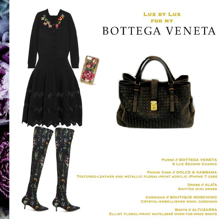 BOTTEGA VENETA INTRECCIATO LEATHER ROMA WITH ANTIQUED GOLD-TONE TOTE
