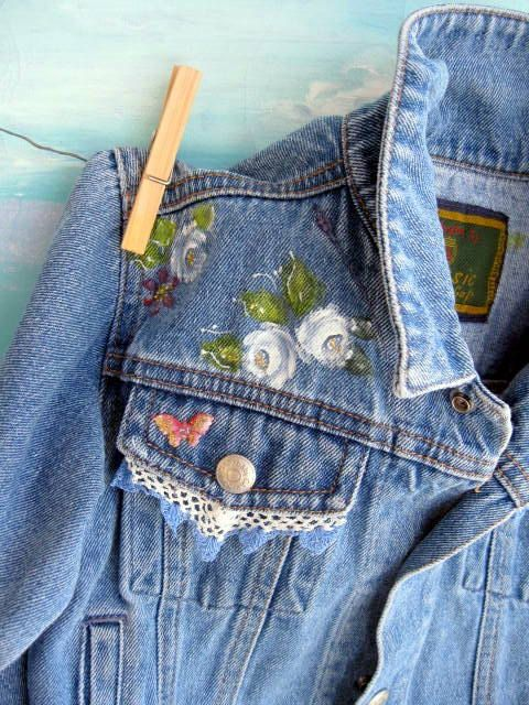 Denim Jacket Upscaled Toddler Painted One to by mailordervintage, $38.25