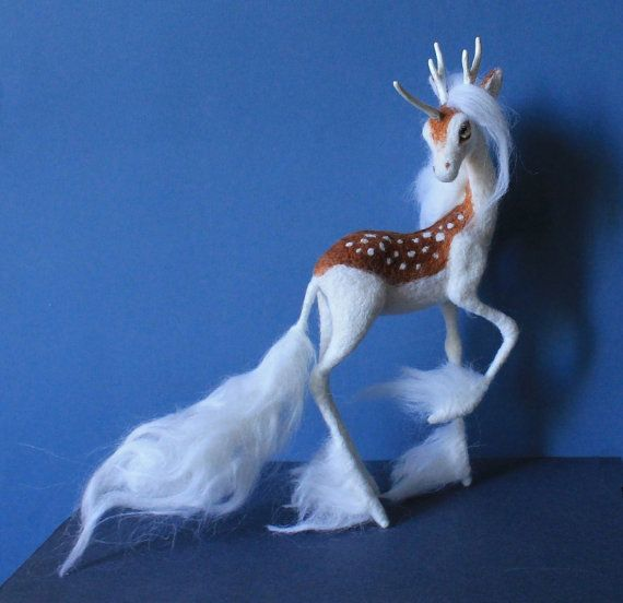 A needle felted figurine of a Unicorn that can be made to order for you. Please contact me so we could discuss the details and the deadline. This