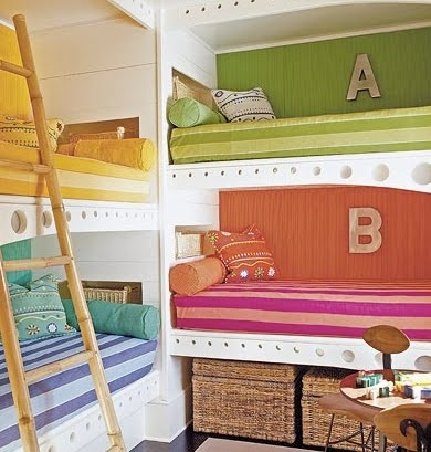 "Fun built in bunk beds--could be a fun ""bunk room"" in the basement"
