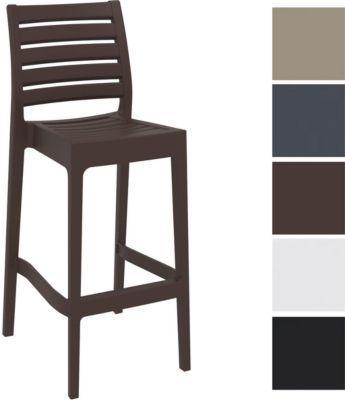 Barhocker ARES, stapelbar, Sitzhöhe 75 cm, Kunststoff Tresenhocker mit Rückenlehne, Outdoor-Thekenhocker, Bistro-Stuhl für Innen- / Außen-Bereich Jetzt bestellen unter: https://moebel.ladendirekt.de/garten/gartenmoebel/gartenstuehle/?uid=65201aa8-0166-570a-aa51-88eaaa1859c8&utm_source=pinterest&utm_medium=pin&utm_campaign=boards #stehtische #garten #gartenmoebel #gartenstuehle