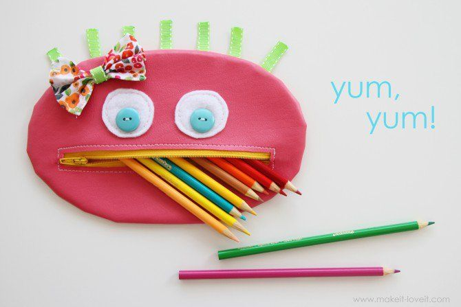 Zipper Mouth Pencil Case {girl version} | Make It and Love It