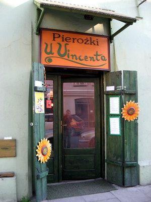 U Vincenta Pierogi Restaurant in the Kazimierz District of Krakow