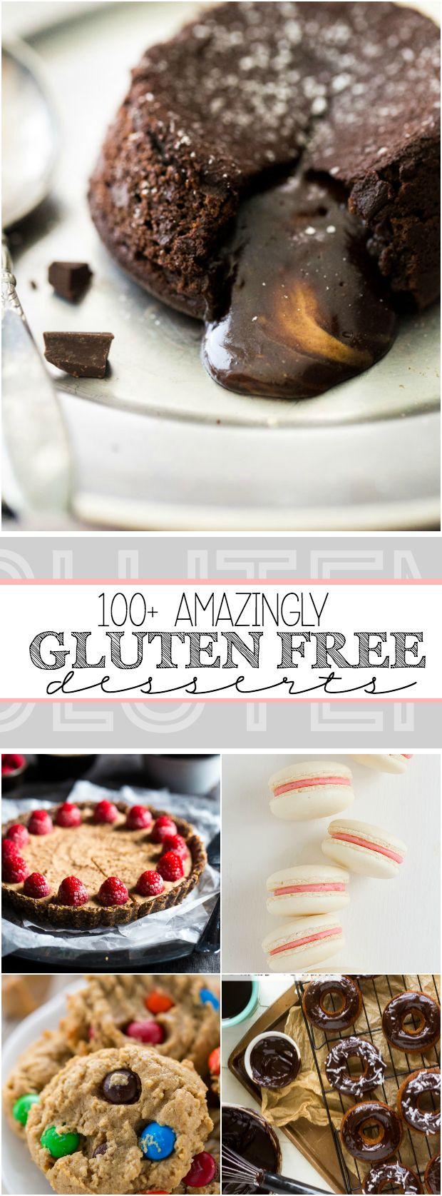 100+ Amazingly Gluten Free Desserts http://www.somethingswanky.com/100-amazingly-gluten-free-desserts/?utm_campaign=coschedule&utm_source=pinterest&utm_medium=Something%20Swanky&utm_content=100%2B%20Amazingly%20Gluten%20Free%20Desserts