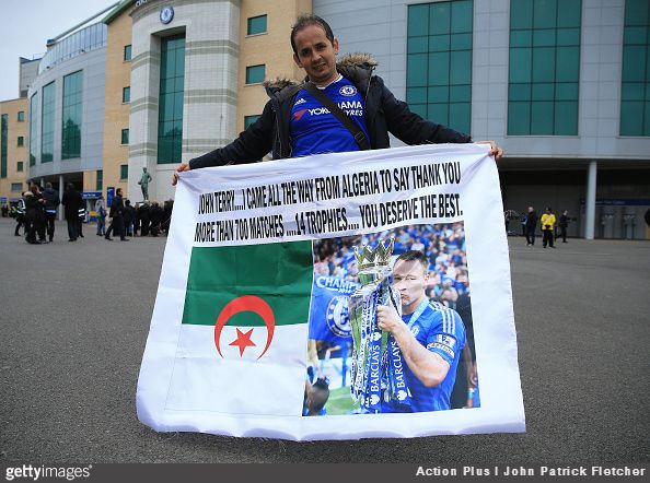 John Terry is loved by thousands of Chelsea fans, and one diehard supporter has come all the way from Algeria just so he can pay tribute to his beloved captain