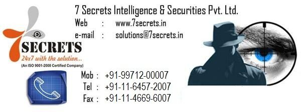 7 Secrets is a reliable and ever growing detective agency in India providing matrimonial investigation, corporate investigation and other more investigations services to clients.