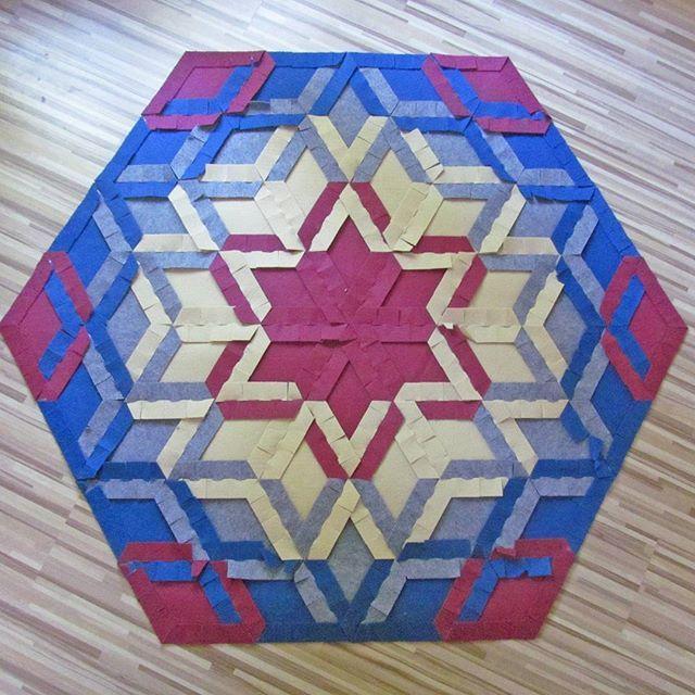 YO! carpet back by caraWonga #rug #carpet #mandala #diy #eco #modular #mathart #logic #star