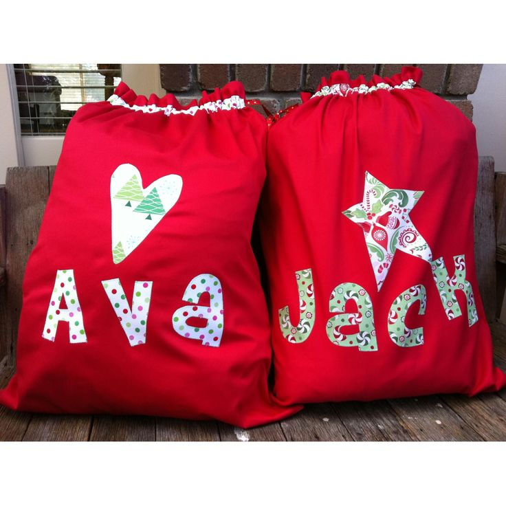 $30 Personalised Santa sacks