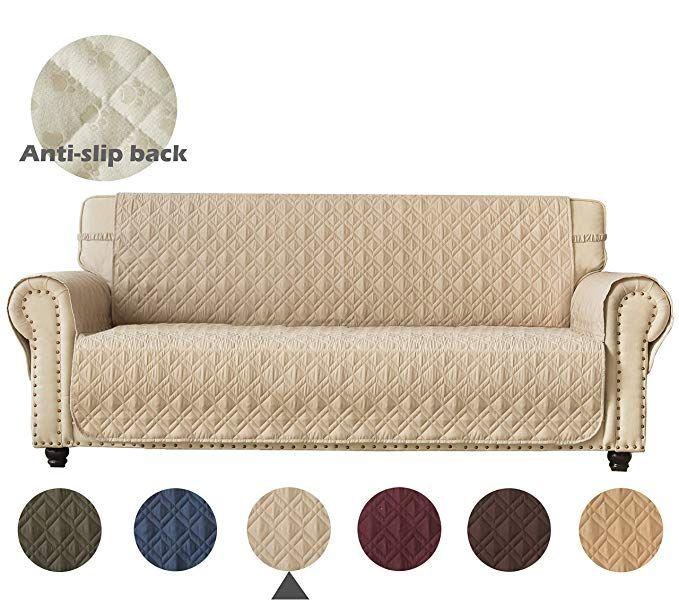 Amazon Com Ameritex Couch Sofa Slipcover 100 Waterproof Nonslip