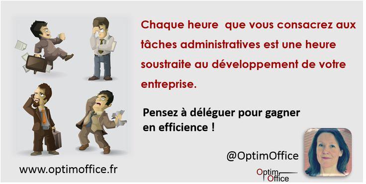 Chaque heure que vous consacrez aux tâches administratives est une heure soustraite au développement de votre entreprise. Pensez à déléguer pour gagner en efficience !