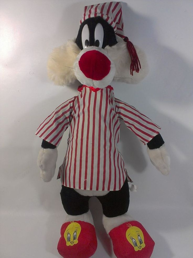 Warner Brothers Sylvester Cat Plush Large 28 Quot Tweety