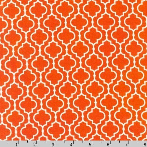 Metro Living Geometric Orange Fabric