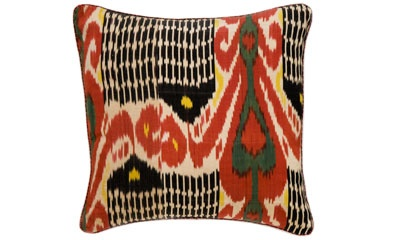I love Ikat fabrics, especially the combination of symmetry - and lack of symmetry - in this one from Madeline Weinrib.