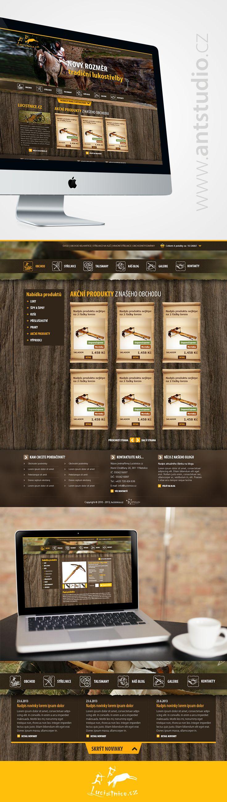 Nový web pro klienta pohybujícího se v oblasti lukostřelby, provozu střelnic na hradech a zámcích apod.