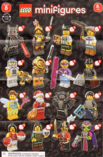 8833: LEGO Minifigures Series 8 Checklist