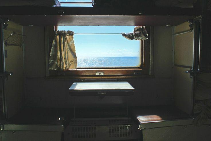 Фото из окна плацкарт