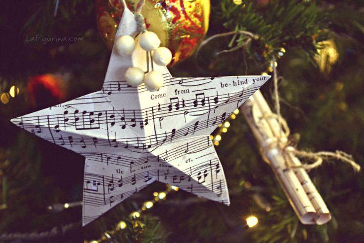 addobbi natalizi con note musicali stella