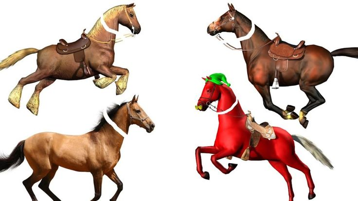 Learn Colors With Colorful Horse Videos For Kids Funny Horse With Wrong Heads Finger Family Rhymes