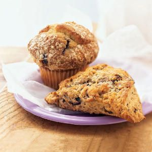 Blueberry Scone and Blueberry Muffin
