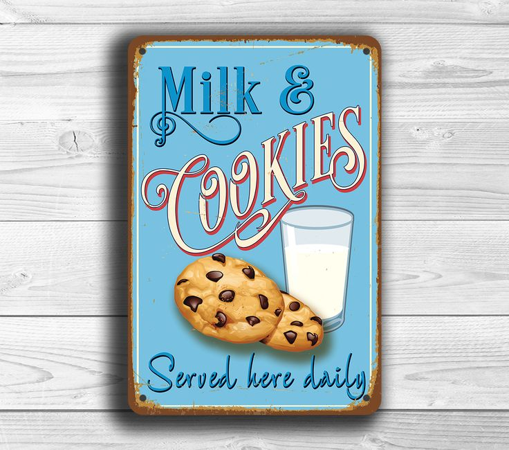 Milk and Cookies Sign