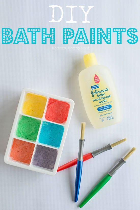 DIY Bath Tintas - fácil de fazer a pintura que suas crianças e as crianças vão adorar!  Grande jogo sensorial!