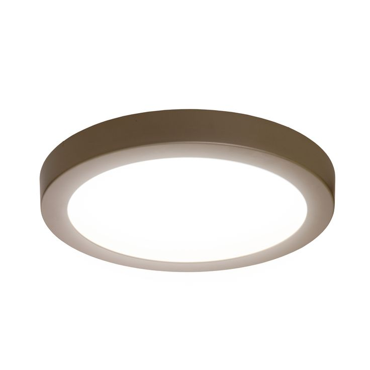 Shop SYLVANIA 15-in W Brushed Nickel Integrated Led Ceiling Flush Mount at Lowes.com