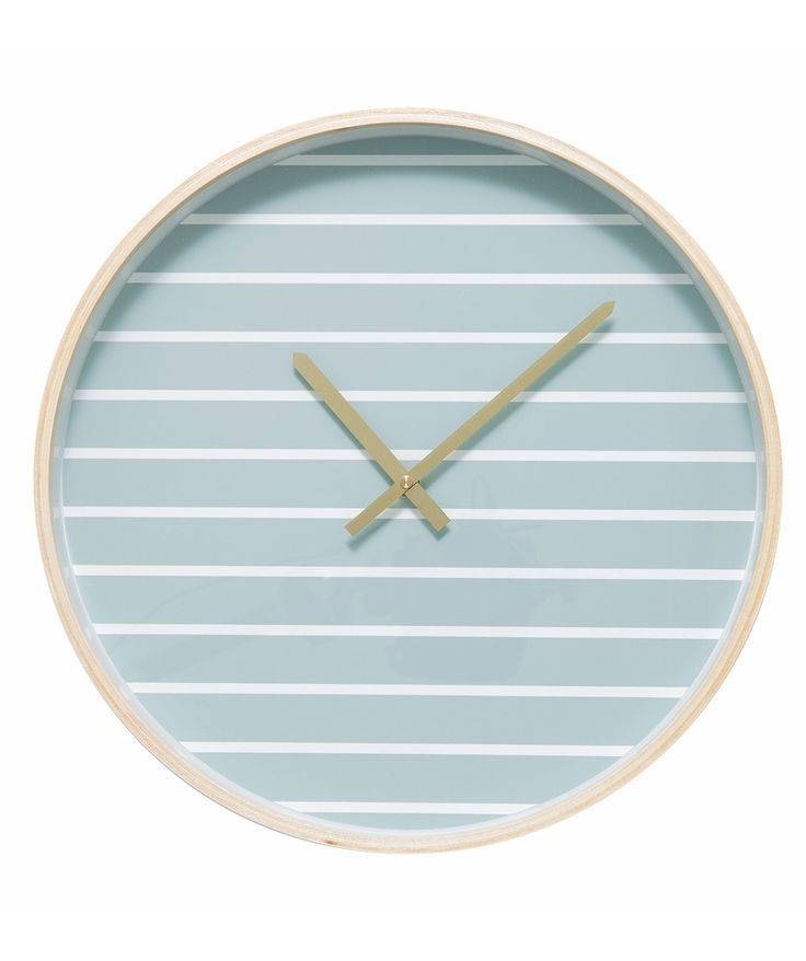 The Archie Clock have simple yet eye-catching patterns on the face and a spun plywood frame which also makes them lightweight and easy to hang. | huntingforgeorge.com