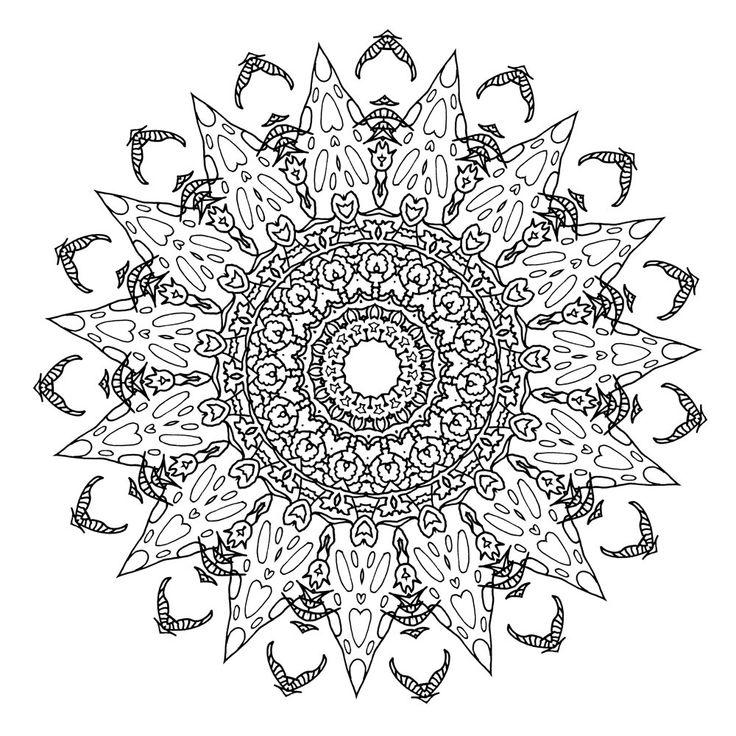 Mandala coloring Dream with Mandalas adult coloring book