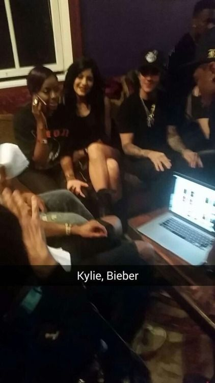 February 8: Fan taken photo of Justin and Kylie Jenner backstage at the House of Blues in West Hollywood, CA.