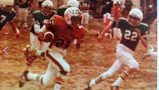 Pee Wee football....Great times for me as a kid growing up in chicago (Northside)....This is me running with the football as an 8th grader in 1980 for St. Monica Grammer school on the  in Chicago against St. Julianas...#22 didn't have a chance of catching me...I had some serious wheels back then...lol...I received a high school football scholarship the next year to play football for Weber High School in the POWERHOUSE Chicago Catholic League....yes back in the day some of us pee wee football…