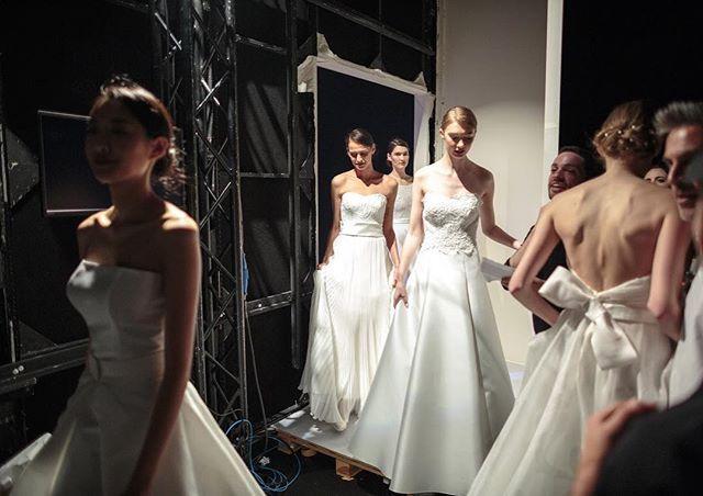Beauties from the #GiuseppePapini 2018 bridal collection back from the catwalk #2018 #bridal #collection #bridalcollection #backstage #bride #wedding #weddingstyle #novia #weddinggown #weddingstyle #bridalfashion #bridetobe #novia #milan #bridalweek