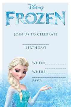 Printable Frozen Birthday Invitations Party