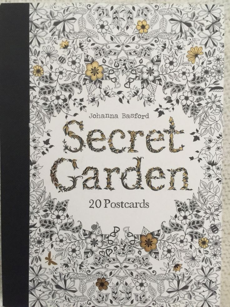 Secret Garden Postcards Johanna Basford BooksSecret Coloring