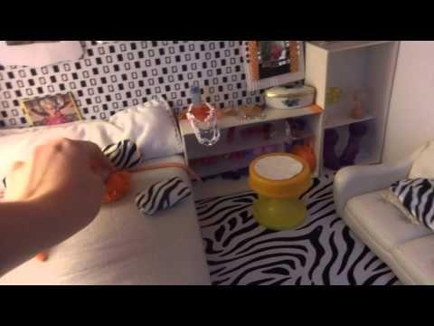 Casa de barbies hecha de carton reciclado accesorios - Casa para barbies ...