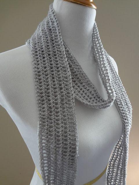 Silver Dollar Skinny Scarf - Get The Free Crochet Pattern here: http://fiberflux.blogspot.com/2012/11/free-crochet-patternsilver-dollar.html