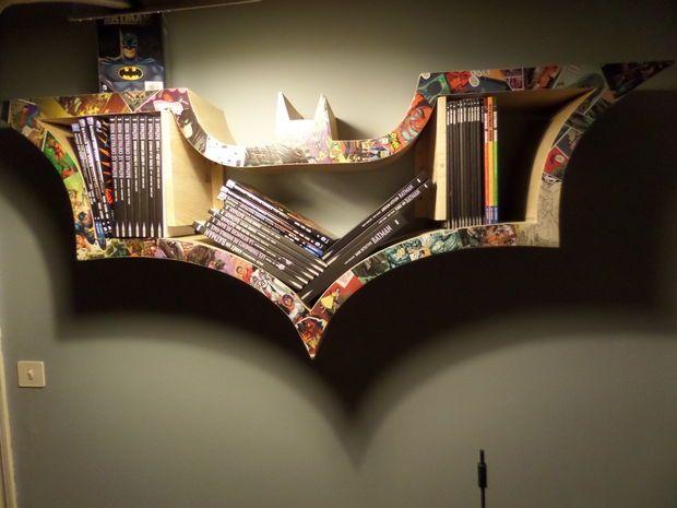 Ecco non ci riuscirei mai ma è bello sapere di avere questa giuda Picture of How to make a BAT-bookshelf