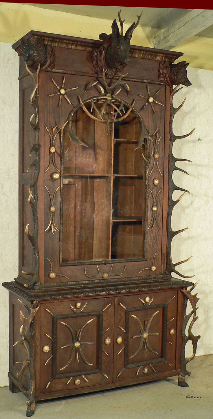 Antique Black Forest Antler Gun Cabinet Bohemia, circa 1870 - 117 Best Antiques Images On Pinterest 19th Century, Roosevelt