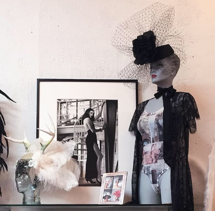 Check out this hidden gem in Beverly Hills Luxe Lingerie.   You'll find tons of sexy items such as lingerie, sex toys, handcuffs and more!   #NaughtyLA  #lingerie #retro #glamour #hats #lace #blacklace #vintagehats #photography #wallart #feathers #bodysuit #robe