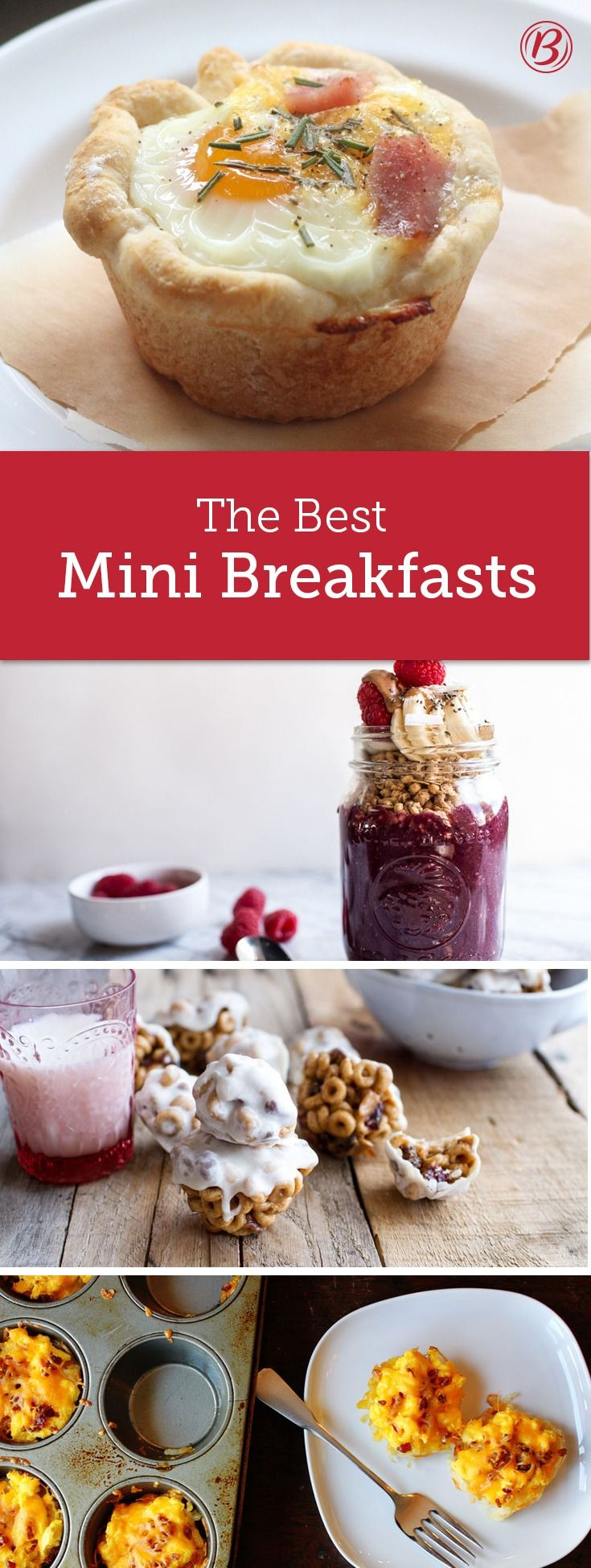 Don't skip the most important meal of the day: Jumpstart your morning with these easy mini breakfast bites! Each of them can be made-ahead so you can hit the snooze button and have a delicious breakfast.