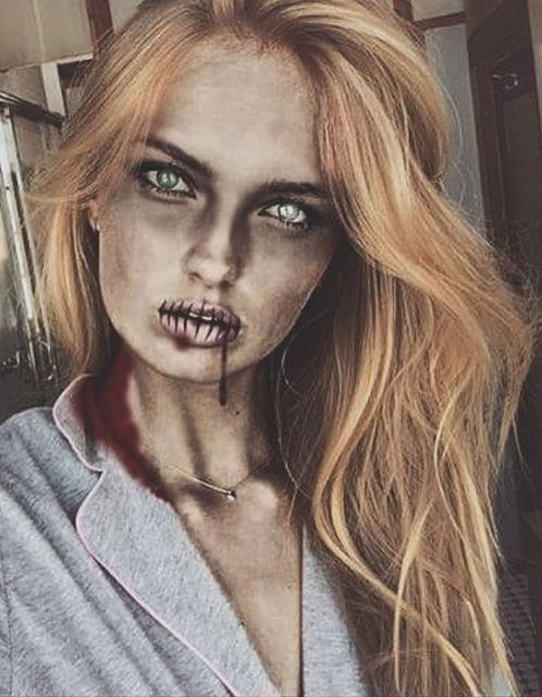 Model Romee Strijd as a Zombie | Fashion Halloween Outfit Ideas
