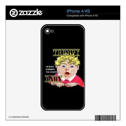 #Trumpy Baby IPhone Skin iPhone 4S Skins - #country gifts style diy gift ideas