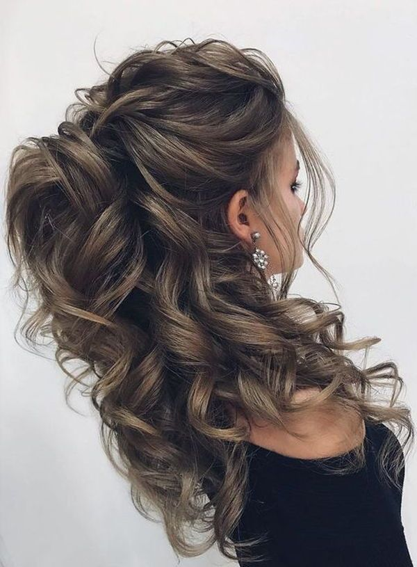 Excellent Photographs Half Up Half Down Hair Bun Strategies On Your Wedding Event You Intend To Look The Down Curly Hairstyles Current Hair Styles Hair Styles