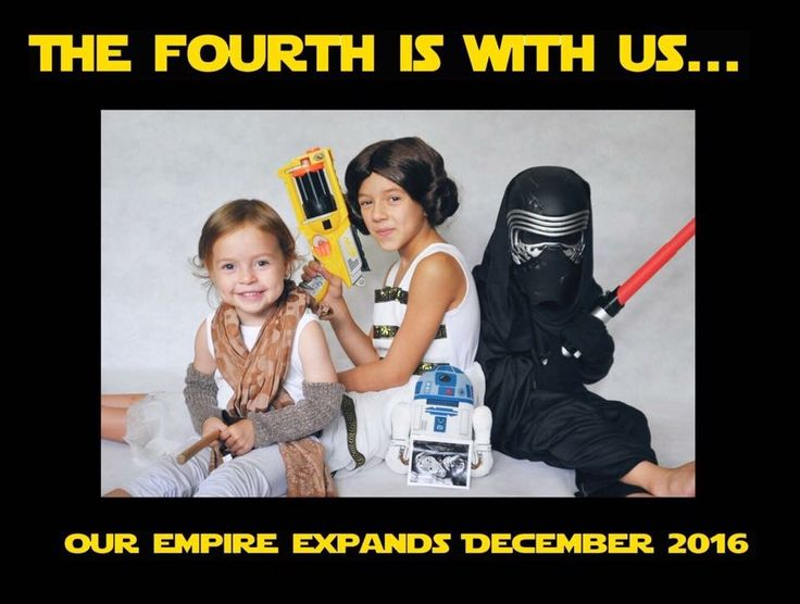 4th baby Star Wars pregnancy announcement