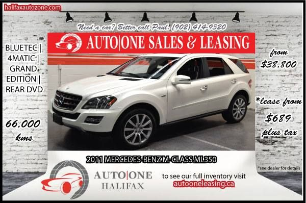 Why just dream...live! This immaculate Mercedes ML350 can be yours and we can customize a lease to fit your specific needs. Call today for more information on Auto One Leasing