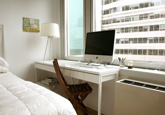 Narrow computer desk   interior   Pinterest