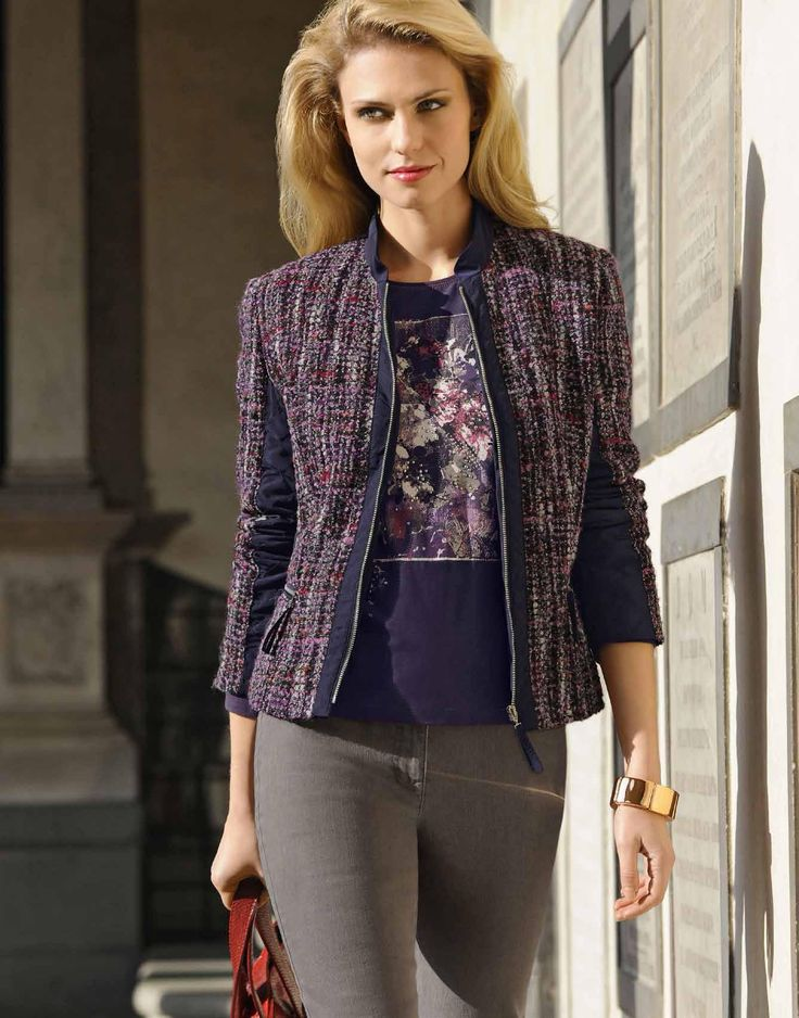 Light City Jacket from the Sweet Plum theme in Barbara Lebek's collection. This one will take you anywhere!  Zip front fastening and pockets.