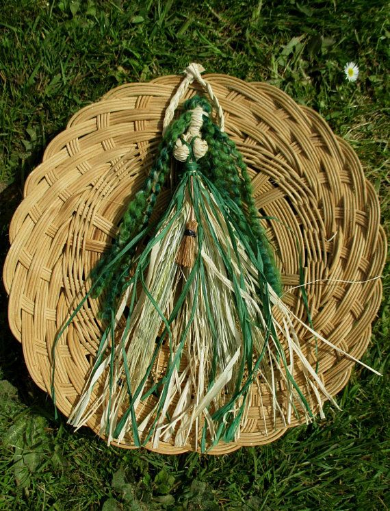 Handmade Earth Mother Goddess / Hedge Witch Corn Dolly  Pagan Wiccan