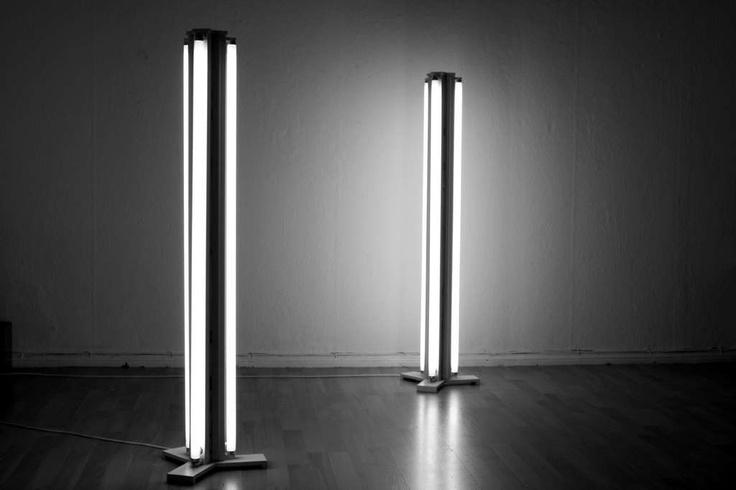 Make your own fluorescent floor lamp